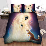 Halloween Universe Ghost And A Cat Bed Sheets Spread Duvet Cover Bedding Sets