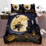 The Ghost Of Halloween Artwork Bed Sheets Spread Duvet Cover Bedding Sets