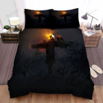 Scarecrow, Halloween, Bright Eyes Bed Sheets Spread Duvet Cover Bedding Sets