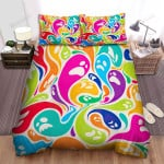 Halloween Colorful Ghosts Bed Sheets Spread Duvet Cover Bedding Sets