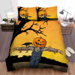 Scarecrow, Halloween, Standing On The Shoulder Bed Sheets Spread Duvet Cover Bedding Sets