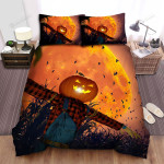 Scarecrow, Halloween, The Night Of The Scarecrow Bed Sheets Spread Duvet Cover Bedding Sets