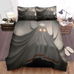 Halloween Ghost Comes Out From The Curtain Bed Sheets Spread Duvet Cover Bedding Sets