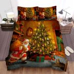 He Saw Santa Claus Bed Sheets Spread Duvet Cover Bedding Sets