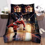 Sneaky Santa Claus In The Museum  Bed Sheets Spread Duvet Cover Bedding Sets