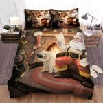 Santa Claus Reading Letters Near Fireside Bed Sheets Spread Duvet Cover Bedding Sets