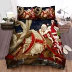 Happy Kids On Santa Claus Sleigh Bed Sheets Spread Duvet Cover Bedding Sets