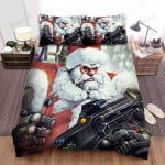 Santa Claus With Machine Guns Bed Sheets Spread Duvet Cover Bedding Sets