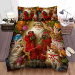 Santa Claus Has Red Coat  Bed Sheets Spread Duvet Cover Bedding Sets