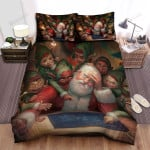 The Santa Claus Trying To Design His Sleigh Bed Sheets Spread Duvet Cover Bedding Sets