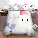 Kissing Red Bucket Snowman Bed Sheets Spread Duvet Cover Bedding Sets
