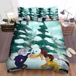 Making Nose For The Snowman Bed Sheets Spread Duvet Cover Bedding Sets