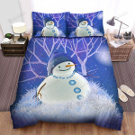 The Snowman Watching Winter Bed Sheets Spread Duvet Cover Bedding Sets