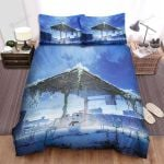 Snowman On The Terrace Bed Sheets Spread Duvet Cover Bedding Sets