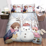 Snowman And A Snow Dog Bed Sheets Spread Duvet Cover Bedding Sets