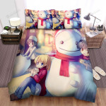 Our Picture With Snowman Bed Sheets Spread Duvet Cover Bedding Sets