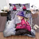 The Bear Snowman Bed Sheets Spread Duvet Cover Bedding Sets
