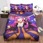 Halloween, Witch, Many Ghosts Around Her Art Bed Sheets Spread Duvet Cover Bedding Sets