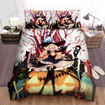Halloween, Witch, Gothic Witch Pumpkin Bed Sheets Spread Duvet Cover Bedding Sets