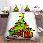 Green Christmas Tree And Boxes Bed Sheets Spread Duvet Cover Bedding Sets