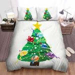 Decorated Christmas Tree Vector Art Bed Sheets Spread Duvet Cover Bedding Sets