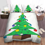 Colorful Balls Of The Christmas Tree Bed Sheets Spread Duvet Cover Bedding Sets