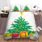 Put Candles On Christmas Tree Branches Bed Sheets Spread Duvet Cover Bedding Sets