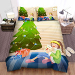 Many Gifts At The Christmas Tree Root Bed Sheets Spread Duvet Cover Bedding Sets