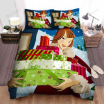 The Christmas Tree Outside Her House Bed Sheets Spread Duvet Cover Bedding Sets