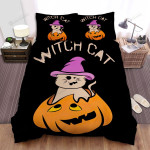 Halloween The Witch Cat Bed Sheets Spread Duvet Cover Bedding Sets