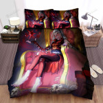 Halloween Vampire Lady Sitting On The Throne Bed Sheets Spread Duvet Cover Bedding Sets