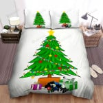 Burning Candle On The Christmas Tree Bed Sheets Spread Duvet Cover Bedding Sets