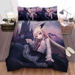 Halloween Anime Vampire Girl Bed Sheets Spread Duvet Cover Bedding Sets