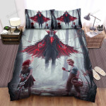 Halloween Creepy Vampire And Two Children Bed Sheets Spread Duvet Cover Bedding Sets