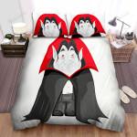 Halloween Vampire Fat Dracula Illustration Bed Sheets Spread Duvet Cover Bedding Sets