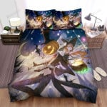 Halloween, Witch, Sitting On His Back Bed Sheets Spread Duvet Cover Bedding Sets
