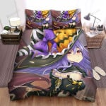 Halloween, Witch, Delightful Smile Bed Sheets Spread Duvet Cover Bedding Sets