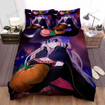 Halloween, Witch,  Shy Girl And Pumpkin Bed Sheets Spread Duvet Cover Bedding Sets