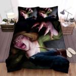 Halloween Creepy Vampire Lady Vs Vampire Hunter Bed Sheets Spread Duvet Cover Bedding Sets