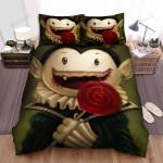 Halloween Cute Vampire Kid Eating Lollipop Bed Sheets Spread Duvet Cover Bedding Sets