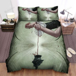 Halloween Vampire Taking Blood Artwork Bed Sheets Spread Duvet Cover Bedding Sets
