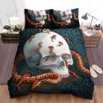 Halloween Skull And Red Snakes Bed Sheets Spread Duvet Cover Bedding Sets