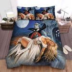 Halloween Vampire Count Dracula And His Death Wife Bed Sheets Spread Duvet Cover Bedding Sets