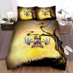 Halloween, Bat, Smile Of The Bat Bed Sheets Spread Duvet Cover Bedding Sets