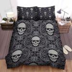 Halloween Paisley Skull Pattern Bed Sheets Spread Duvet Cover Bedding Sets