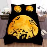 Halloween, Bat, Creepy Artwork Bed Sheets Spread Duvet Cover Bedding Sets