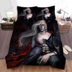 Halloween Vampire And Black Crows Artwork Bed Sheets Spread Duvet Cover Bedding Sets