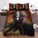 Halloween Vampire Angry Count Dracula Bed Sheets Spread Duvet Cover Bedding Sets