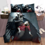 Halloween Vampire King Taking Blood From Innocent Girl Bed Sheets Spread Duvet Cover Bedding Sets