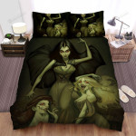 Halloween Three Vampire Sisters Bed Sheets Spread Duvet Cover Bedding Sets